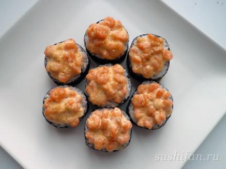 запеченные роллы с томаго | суши, роллы, сашими