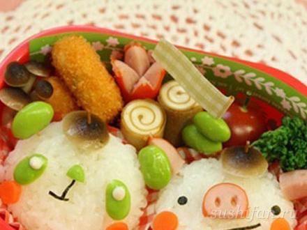Бенто ланч  | суши, роллы, сашими