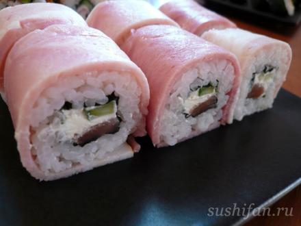 роллы с беконом | суши, роллы, сашими