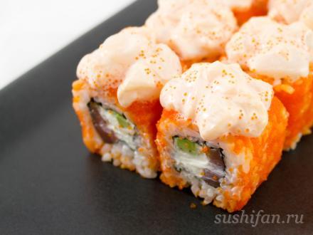 Лава маки с семгой | суши, роллы, сашими