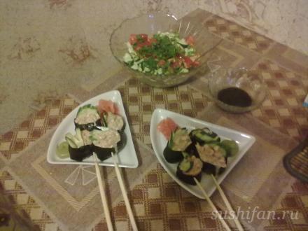 Японский ужин | суши, роллы, сашими