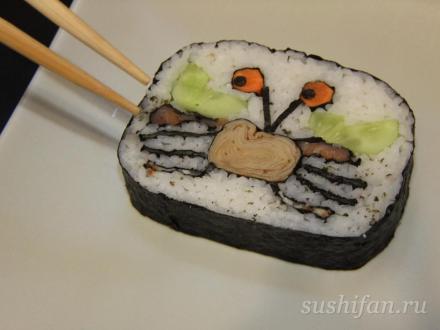 Кадзари суши с изображением краба | суши, роллы, сашими