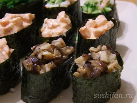 Гункан маки | суши, роллы, сашими