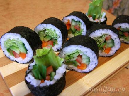 Овощные роллы | суши, роллы, сашими