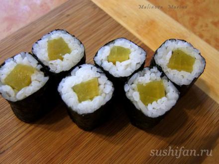 Хосомаки с такуаном | суши, роллы, сашими