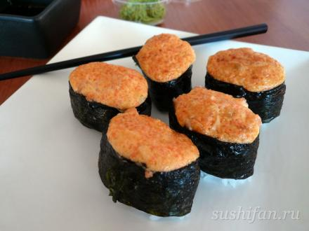Запеченные спайси суши | суши, роллы, сашими