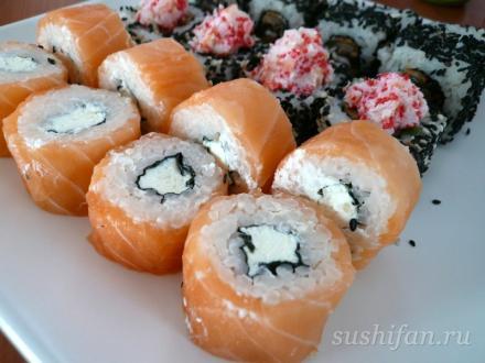 Настоящая филадельфия от SUSUMI- 1/6 СУШИ | суши, роллы, сашими