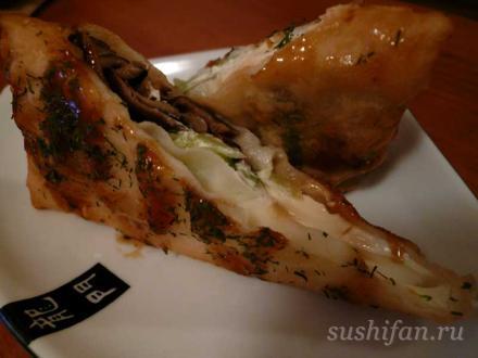 шитаке харумаки (грибы шитаке)   суши, роллы, сашими