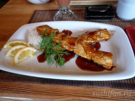 шашлык самон торо (из семги) | суши, роллы, сашими
